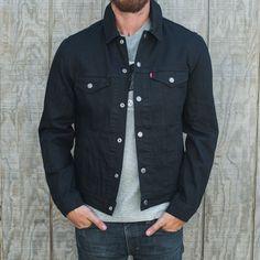 Levi's Commuter Trucker Jacket II - Black Black Denim Jacket Outfit, Denim Jacket Men, Men's Denim, Denim Jackets, Jean Jackets, Ck Jeans, Stylish Men, Menswear, Levis