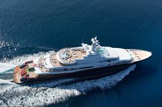 The 88.5 metre-long mega-yacht Nirvana has gone on the market for £200 million