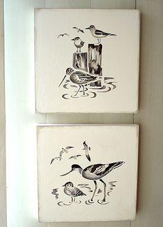 Coastal Birds Stencil 1 Avocet and Seagulls Stencil Bird Stencil, Damask Stencil, Stencil Patterns, Stencil Art, Stencil Designs, Patterned Furniture, Funky Furniture, Furniture Design, Nautical Interior