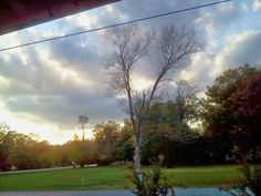 From my front porch.