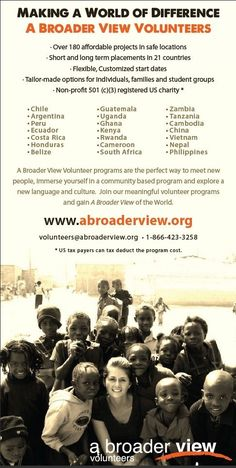 Volunteers, donates, gives to charity Volunteer Tourism, Volunteer Overseas, Volunteer Abroad Programs, Volunteer Services, Volunteer Work, Volunteer Ideas, Places To Travel, Places To See, Gap Year