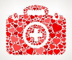 Medical Kit Red Hearts Love Pattern vector art illustration