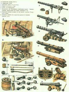 Морская артиллерия 16-17 в