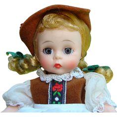 C1967 Madame Alexander Tyrolean Girl Doll 798 Bent Knee Pristine in Box
