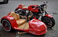 Ducati Cafe w/ Sidecar - found on Cafe Racer Culture Motorcycle Camping, Moto Bike, Camping Gear, Sidecar Motorcycle, Motorcycle Trailer, Motorcycle Design, Custom Motorcycles, Custom Bikes, Cars And Motorcycles