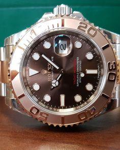 36f7573cdf1 Rolex Yacht-Master 40 Steel   Everose Gold Chocolate Dial 116621