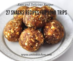 Easy road trip snack recipes for kids. This collection includes healthy, sweet and savory snack recipes. Easy Homemade Snacks, Easy Snacks, Yummy Snacks, Kid Snacks, Fruit Snacks, Fruit Bars, Peanut Recipes, Baby Food Recipes, Snack Recipes