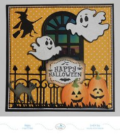 Selma's Stamping Corner and Floral Designs: Design Team Challenge - Halloween Card