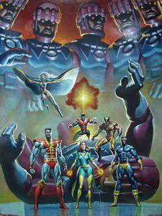 X-Men vs. Sentinels by Mark Texeira