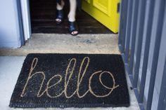 Hello! #doormat #welcome #homedecor #rug #interiordesign #interiordecorating #hello | 88 Marlborough Street, Surry Hills
