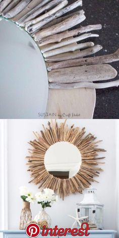 large FEATHER- neutral colored wall art - made from recycled magazines, unique, home decor, interior Diy Crafts For Home Decor, Handmade Home Decor, Diy Wall Decor, Diy Crafts To Sell, Diy Bedroom Decor, Shabby Bedroom, Cork Crafts, Sell Diy, Mirror Crafts