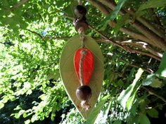 Keramik Glocke Keramik Windspiel Glocke grün rot 2 von gedemuck, €15.00