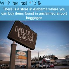 Unclaimed Baggage Center - WTF fun fact