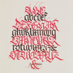 joanquiros:  Fraktur alphabet #calligraphy #vscocam #fraktur #blackletter #gothic