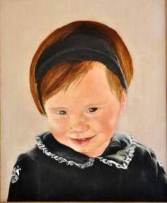 NATÀLYA (2005) RETRAT 41X33cm OLI SOBRE TAULETA ENTELADA  #barcelona #mercearmengol #artista #ilustradora #pintora #cuento #infantil #retrato #retratoporencargo