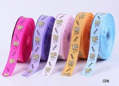 If you want to buy something to children,don' forget use this    50yard 25mm Mixed Color Double Bear Polyester Fiber Crafts Ribbon Cord