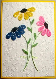 easy quilled birthday cards - Yahoo Image search R - Best Paper Quilling Designs Quilling Birthday Cards, Paper Quilling Cards, Paper Quilling Flowers, Paper Quilling Patterns, Quilled Paper Art, Quilling Craft, Quilling Designs On Cards, Paper Cards, Diy Paper