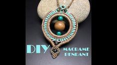 DIY MACRAME PENDANT/ TRIBAL PENDANT - YouTube Macrame Earrings Tutorial, Micro Macrame Tutorial, Earring Tutorial, Macrame Necklace, Macrame Bracelets, Macrame Knots, Diy Macrame, Macrame Projects, Loom Bracelets