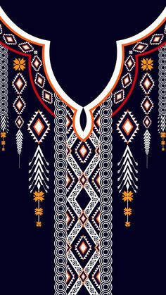 Pictures found for the question of how to draw lily of the valley Tribal Patterns, Textile Patterns, Textile Design, Print Patterns, Graphic Patterns, Pattern Art, Pattern Design, Neck Pattern, Embroidery Neck Designs