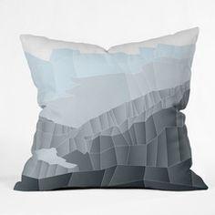 Gabi Now Im Found Throw Pillow #blue #home #decor #gray #unique