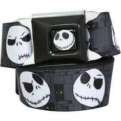 The Nightmare Before Christmas Jack Seat Belt Belt | Hot Topic ($35) ❤ liked on Polyvore featuring accessories and belts
