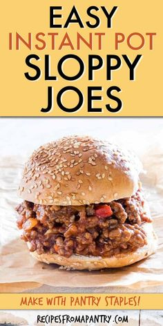 This Instant Pot Sloppy Joes recipe is a flavourful and fun Pressure Cooker version of the classic American comfort food dish. Best Instant Pot Recipe, Instant Pot Dinner Recipes, Supper Recipes, Lunch Recipes, Appetizer Recipes, Ww Recipes, Family Recipes, Instant Pot Pressure Cooker, Pressure Cooker Recipes