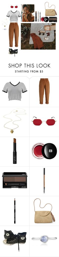 """""""Frech Picnic"""" by kcoleman875 ❤ liked on Polyvore featuring Miu Miu, NARS Cosmetics, Edward Bess, Shiseido, Mar y Sol, Converse and Monica Vinader"""