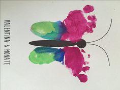 DIY, Baby Fußabdrücke mit Baby, Geschenkideen, Gratis Download, Geschenke, Basteln mit Kind, Wasserfarben, Karten selbst gestalten, Fußabdrücke Baby,