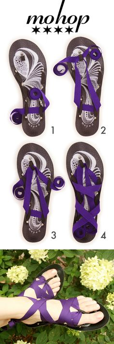 {DIY inspiration} Mohop Flats come with 5 interchangeable ribbons. American made, Animal Friendly!