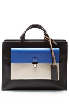 Shop Leather Tote with Detachable Wallet by Marni Now Available on Moda Operandi