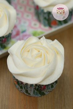 Cupcakes de chocolate blanco / White chocolate cupcakes