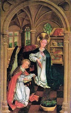 1475-1485   Mestre Desconhecido de Cracóvia (Unbekannter Meister aus Krakau)  Tríptico da Nossa Senhora das Dores (painel)   Capela de Santa Cruz, Catedral de Wawel
