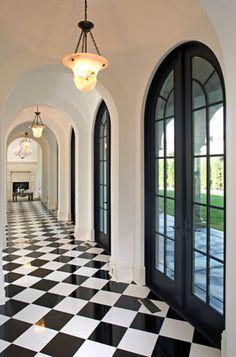 Black & White Marble Floor