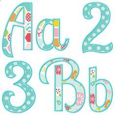Versatile applique alphabet for machine embroidery