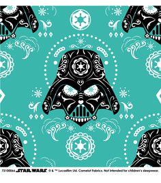 Star Wars™ Darth Vader Sugar Skulls Cotton Fabric
