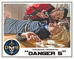 "Danger 5 Lobby Card #6 - ""You talk to much"""