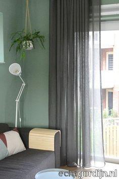 Interior Design Living Room, Living Room Decor, Bedroom Decor, Bedroom Green, My New Room, Room Inspiration, New Homes, Curtains, Sweet Home