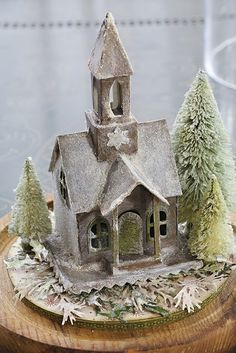 Vintage Christmas Church Tutorial for Tim Holtz