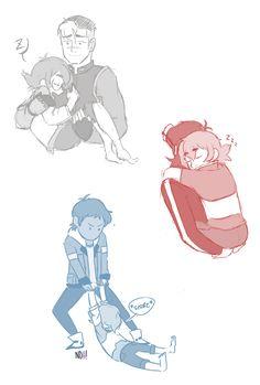 Carrying sleeping Pidge