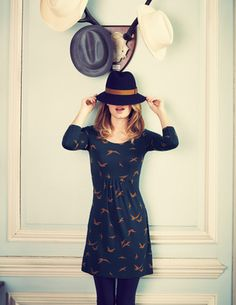 just love the idea of printed tunic dresses that can either be worn with thick tights or over jeans.
