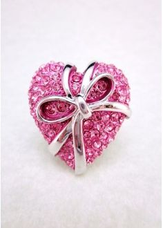 Heart Stretchy Ring (more colors available)
