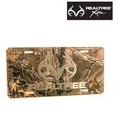 #NEW #RealtreeXtra Camo License Plate - Make Your Truck Proud $12.99