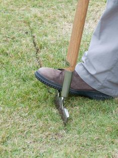 Use Half Moon Cutter to Level the Lawn