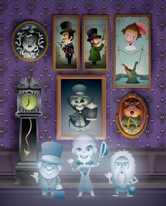 Happy Haunts will debut at WonderGround Gallery in the Downtown Disney District - Disneyland Resort on October I'll be appearing at the gallery from Downtown Disney, Disney Parks, Disney Pixar, Disney Nerd, Disney Fan Art, Cute Disney, Disney Stuff, Dark Disney, Orlando Disney