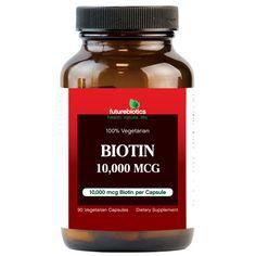 FutureBiotics Biotin 10000 mcg (90 Veg Capsules)
