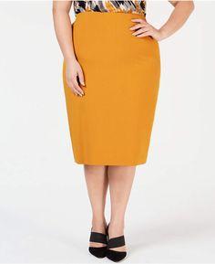 fe63024dfe Kasper Plus Size Midi Pencil Skirt Plus Size Pencil Skirt, Plus Size Skirts,  Plus