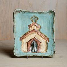 Etta B Pottery Inspirational Church Plate $69