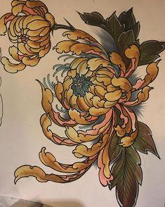 Japanese Flower Tattoo, Japanese Dragon Tattoos, Japanese Tattoo Designs, Japanese Flowers, Flower Tattoo Designs, Flower Tattoos, Neo Tattoo, Taboo Tattoo, Body Art Tattoos