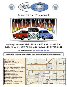 Inland Valley Volkswagens 12th Annual October Volksfest