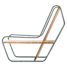 Visibly Interesting: Michael Boyd Flip Lounge, This design, Flip lounge chair, model from the Rod series, in steel and cotton. Acquired 2012 to the Collection of Architecture + Design of SFMOMA. Steel Furniture, Industrial Furniture, Cool Furniture, Modern Furniture, Furniture Design, Furniture Ads, Garden Furniture, Bedroom Furniture, Outdoor Chairs